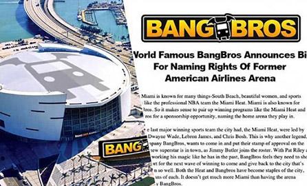 BangBros chce zostać sponsorem tytularnym stadionu